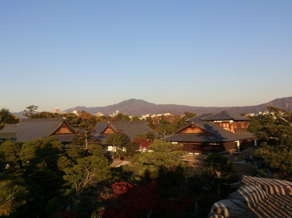 二条城にて④ 天守台からの景色